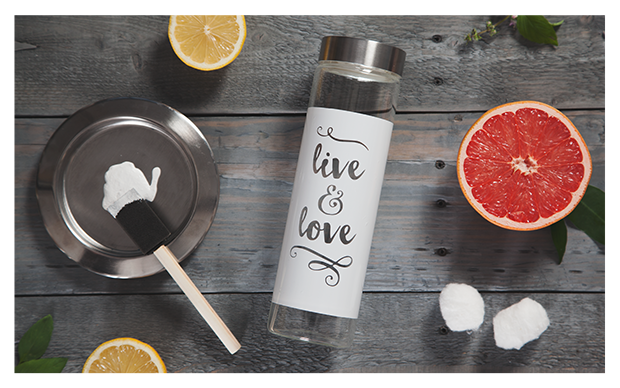 Young Living - DIY Etched Water Bottle