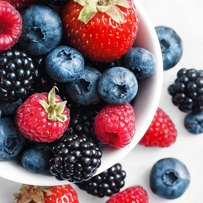 Red, white, and blue fruit salad recipe