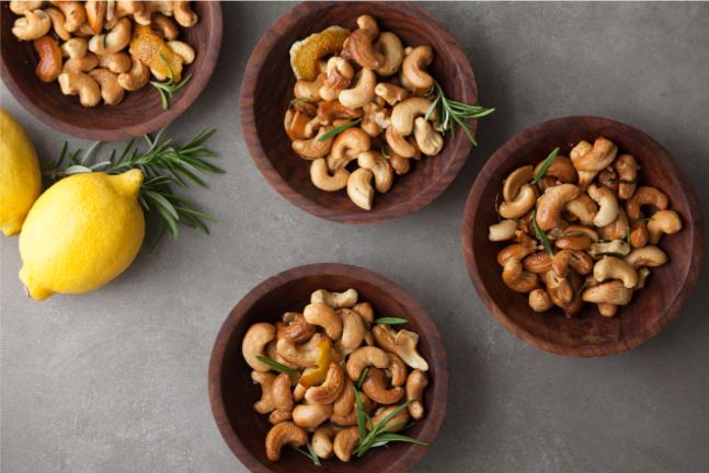 Warm Rosemary-Lemon Cashews Recipe
